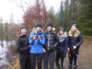 Några av höstens fiskekursdeltagare från Norrevångskolan.
